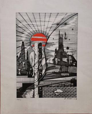 40 x 50 cm, Lithographie auf Büttenpapier, nummeriert, limitiert und handsigniert, 149,-€