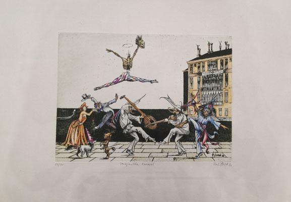 "Paul Struck, ""Begegnung"", 20 x 30 cm, Lithographie auf Büttenpapier, nummeriert, limitiert und handsigniert, 99,-€"