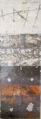 Spurensuche, mit Alurahmen, 52x152, 329,-€