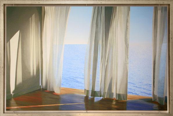 """Alice Dalton Brown: """"Blues come Through"""", Kunstdruck, aufkaschiert und mit Matt Folie UV-Schutz  veredelt, im freischwebendem Rahmen, 146cm x 99cm, 359 €*"""