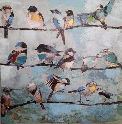Vögel, 60x60cm, 59,-€