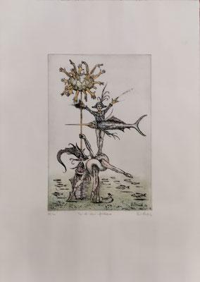 """Paul Struck, """"Pas-de-deux-Aporteure"""", 38 x 53 cm, Lithographie auf Büttenpapier, nummeriert, limitiert und handsigniert, 99,-€"""