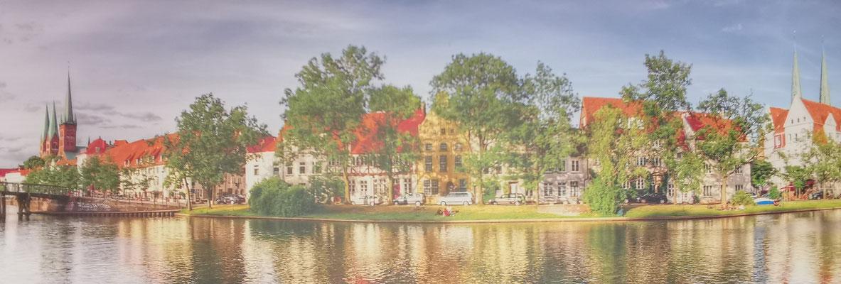 Uwe Freitag, Lübeck Panorama, 159x55cm, 299,-€