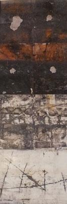 """K. Plunker, """"Spurensuche"""", ca. 52 x 150 cm, Druck mit Rahmen 199,-€*"""
