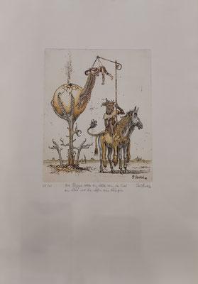 """Paul Struck, """"Adler, Löwe und Königin"""" 38 x 53 cm, Lithographie auf Büttenpapier, nummeriert, limitiert und handsigniert, 99,-€"""