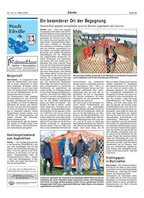 21. März 2019, Rheingau Echo - Jugendpark der Kulturen: Aufbau der Jurte