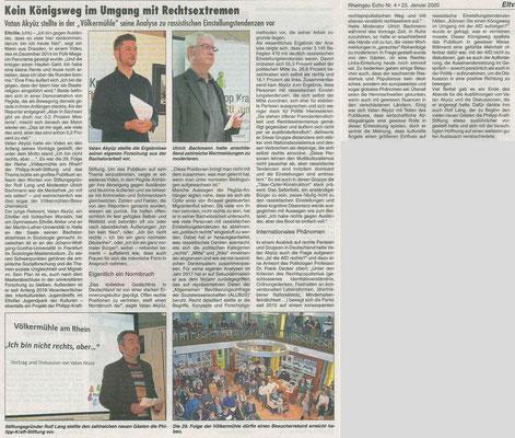 """23.02.2020, Rheingau Echo: Völkermühle - """"Ich bin nicht rechts, aber...."""""""