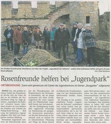 20.02.2017 Wiesbadener Kurier Eltviller Rosenfreunde unterstützen den Jugendpark der Kulturen