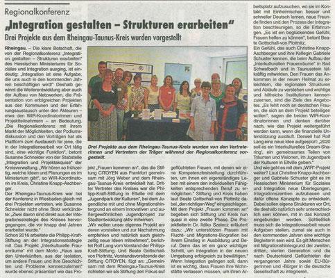 20. Juni 2019, Rheingau Echo - Projektvorstellung bei der Regionalkonferenz des Sozialministeriums