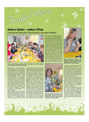 11. April 2019, Rheingau Echo - Sonderausgabe zu Ostern: Völkercafe