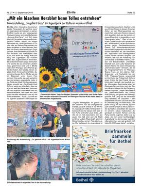 12. September 2019; Rheingau Echo -  Du gehörst dazu / Fotoprojekt