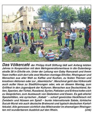 12. September 2019, Rheingau Echo - Völkercafé Grillfest im Jugendpark