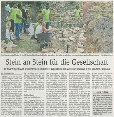 12. Juli 2019, Wiesbadener Kurier - Jugendpark der Kulturen - Berufsorientierung hautnah