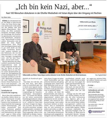 """17.01.2010,  Wiesbadener Kurier: Völkermühle - """"Ich bin nicht rechts, aber...."""""""