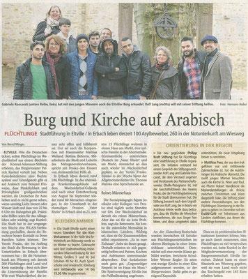 17.11.2015 Wiesbadener Kurier Ausflug