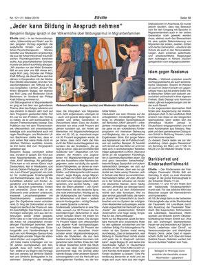 21. März 2019, Rheingau Echo - Völkermühle: Bildung und Armut
