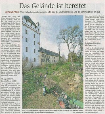04.04.2017 Wiesbadener Kurier Aufräumaktion im Jugendpark der Kulturen