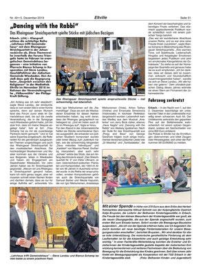 5. Dezember 2019, Rheingau Echo - Völkermühle: Veranstaltung Triangelis, Hinweis