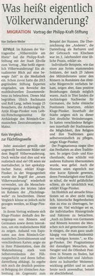 31.03.2017 Wiesbadener Kurier  Völkermühle am Rhein: Völkerwanderung