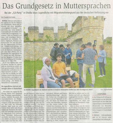 23. Mai 2019, Wiesbadener Kurier - Jugendpark der Kulturen - G³-Party