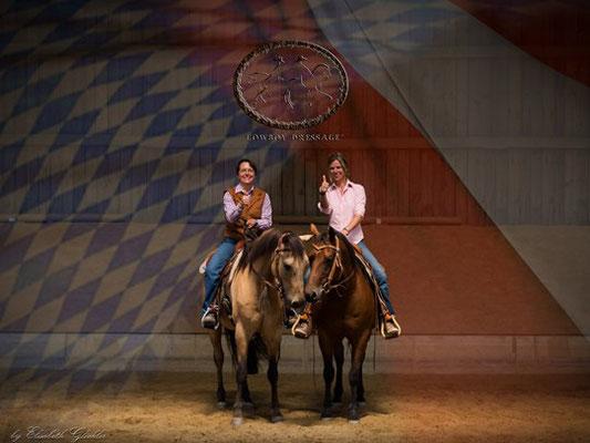 2017: Bayrisch-Österreichischer Cowboy Dressage Gemeinschaftskurs Barbara Wagner und Sabina Sigl, Brandy Station, Haiming bei Burghausen