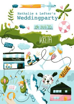 Wedding invitation, procreate, 2019
