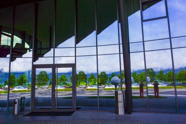Eingangsfassade vom GC Montfort-Rankweil
