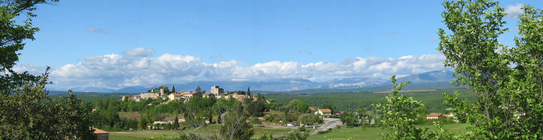 Blick auf Montmeyan
