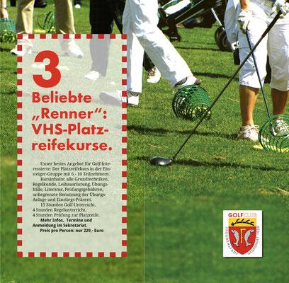 Seite 6-7 vom Golf-Einsteiger-Flyer 2020.