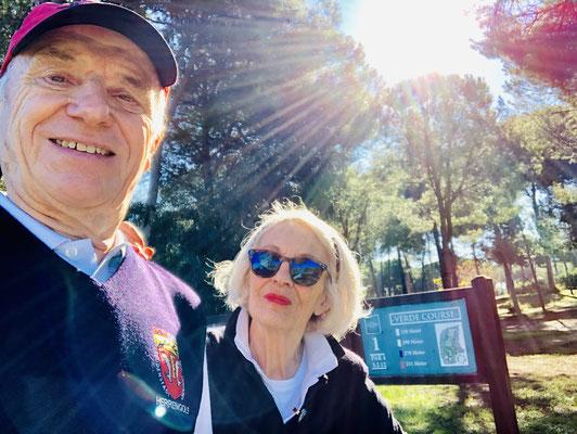 Selfie auf dem Gloria Verde Course