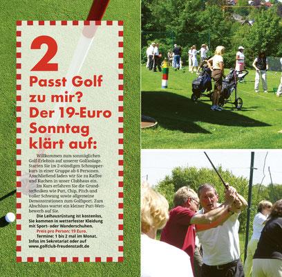 Seite 4-5 vom Golf-Einsteiger-Flyer 2020.