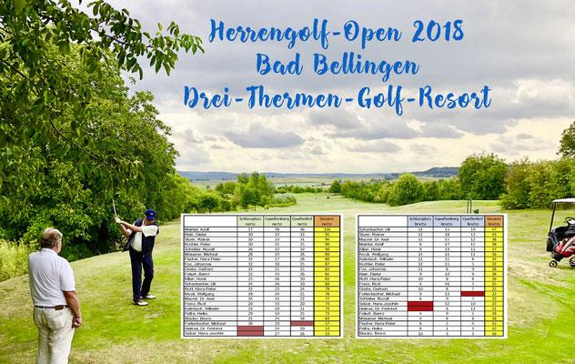 Die Sieger der Herrengolf-Open 2018