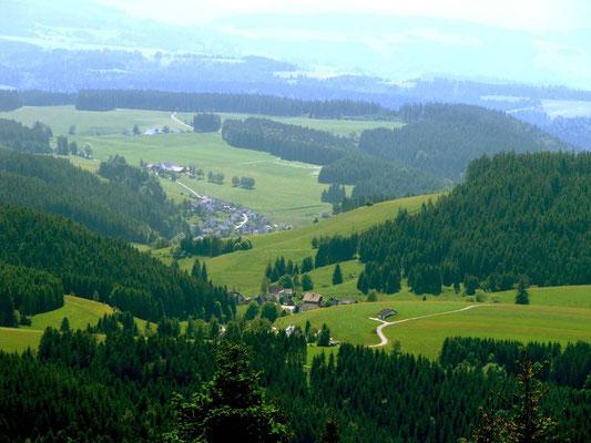 Ausblick vom Brend-Turm Richtung Süden. 1.149 m ü.M.