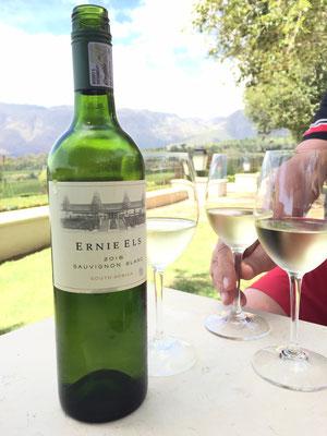 Auf dem Weingut von Ernie Els