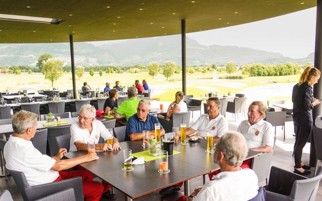 Terrasse vom Clubhaus GC Montfort-Rankweil