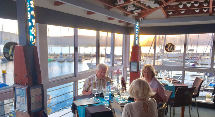 Treffen mit Rolf und Dörthe Waterfront Knysna