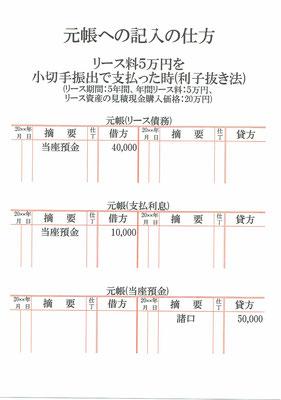元帳(リース債務・支払利息・当座預金)