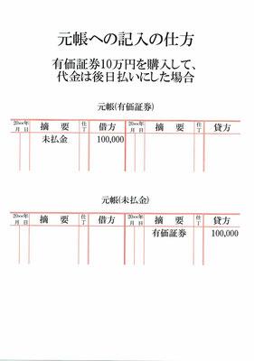 元帳(有価証券・未払金)