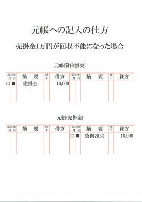 元帳(貸倒損失・売掛金)