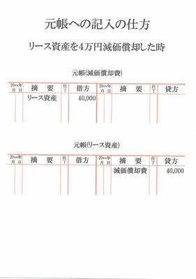 元帳(減価償却費・リース資産)