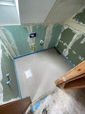 Kernsanierung Bad