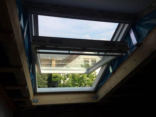 Dachflächenfenstereinbau MADEJA e.K. bei einer Renovierung
