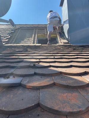 Dachflächenfensteröffnung MADEJA e.K. Dachöffnung für Fenstereinbau hergestellt.