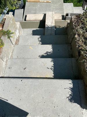 MADEJA e.K. komplett neue Treppe einer Außenanlage