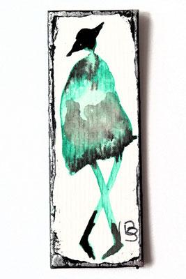 Tusche und Aquarellfarbe auf Pappe