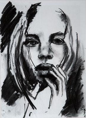 Gisèle B. - Reiskohle auf Papier