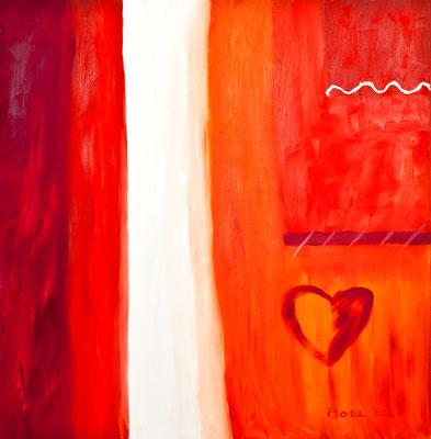 Herz auf dem Weg, 100*100, 2007