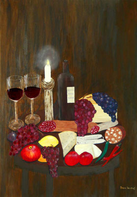 Voller Tisch, 70*100, 2013