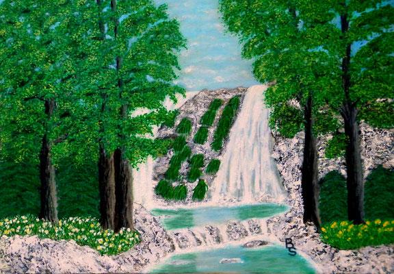 Wasserfall, 70*50, 2014