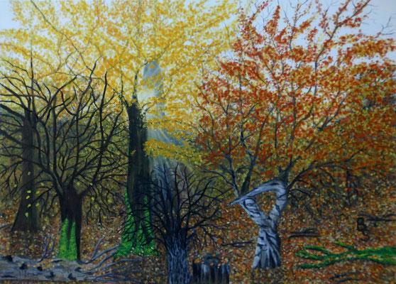 Herbstwald, 70*50, 2021